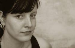 Mujer seria Foto de archivo libre de regalías