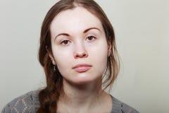 Mujer sin maquillaje Imagen de archivo