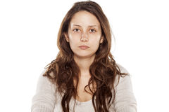 Mujer sin maquillaje Foto de archivo
