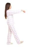 Mujer Sleepwalking Imágenes de archivo libres de regalías