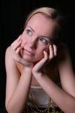 Mujer soñadora Foto de archivo libre de regalías