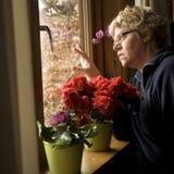 Mujer solitaria Fotos de archivo libres de regalías