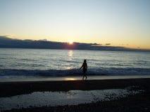Mujer solitaria Fotos de archivo