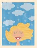 Mujer sonriente libre illustration