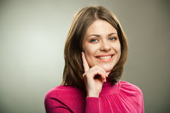 Mujer sonriente Fotografía de archivo libre de regalías