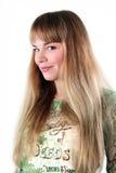 Mujer sonriente atractiva hermosa joven Fotos de archivo