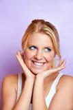 Mujer sonriente con la piel hermosa Fotos de archivo libres de regalías