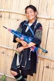 Mujer sonriente de H'mong en el PA del Sa Imagen de archivo
