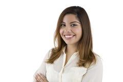 Mujer sonriente del Latino Fotos de archivo libres de regalías