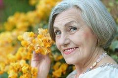 Mujer sonriente feliz Imágenes de archivo libres de regalías