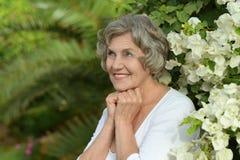 Mujer sonriente feliz Fotografía de archivo libre de regalías