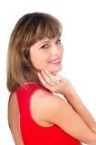Mujer sonriente feliz hermosa Imagen de archivo libre de regalías