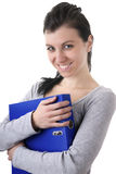Mujer sonriente joven Imagen de archivo libre de regalías