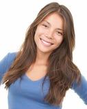 Mujer sonriente - multirracial Fotografía de archivo libre de regalías