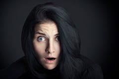 Mujer sorprendida Fotografía de archivo libre de regalías