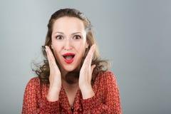 Mujer sorprendida. Fotos de archivo libres de regalías