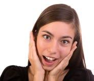 Mujer sorprendida Fotos de archivo
