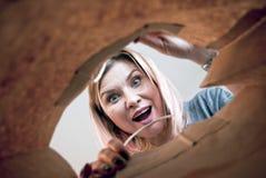 Mujer sorprendida Foto de archivo libre de regalías