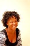 Mujer surafricana feliz Fotografía de archivo libre de regalías