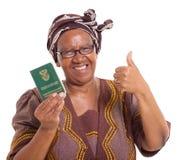 Mujer surafricana mayor foto de archivo libre de regalías