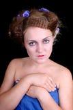 Mujer tímida Imagen de archivo