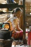 Mujer tailandesa de la tribu de la colina imagen de archivo