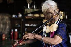 Mujer tatuada tribu de Chin (Daai) Imágenes de archivo libres de regalías