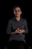 Mujer tensionada Fotos de archivo
