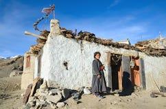 Mujer tibetana fotos de archivo