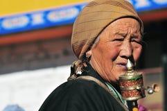 Mujer tibetana Imágenes de archivo libres de regalías