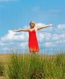 Mujer, tiro al aire libre Fotos de archivo