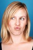 Mujer tonta de la cara Fotografía de archivo libre de regalías