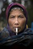 Mujer tradicional de Dieng Foto de archivo