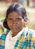 Mujer tribal Imagen de archivo libre de regalías