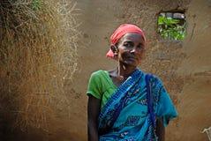 Mujer tribal en la India Foto de archivo