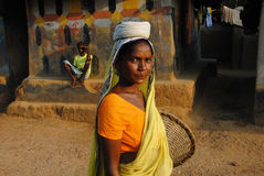 Mujer tribal en la India Foto de archivo libre de regalías