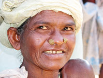 Mujer tribal india Foto de archivo