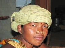 Mujer tribal india Imagen de archivo