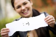 Mujer triguena joven Foto de archivo libre de regalías