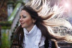 Mujer triguena linda de Yound Fotos de archivo