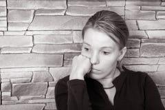 Mujer triste fotografía de archivo libre de regalías