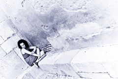 Mujer triste Foto de archivo libre de regalías
