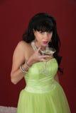Mujer triste con Martini Imagenes de archivo