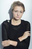 Mujer triste con trastorno mental Fotografía de archivo libre de regalías