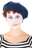 Mujer triste del payaso Imagen de archivo libre de regalías