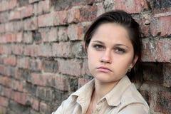 Mujer triste joven Imágenes de archivo libres de regalías