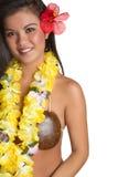 Mujer tropical hawaiana Foto de archivo