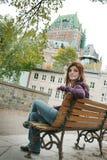 Mujer turística Foto de archivo libre de regalías