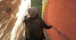 Mujer turística en Italia metrajes