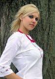 Mujer ucraniana joven Fotografía de archivo